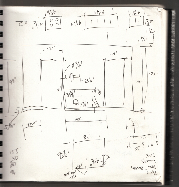 Dimension notes for Studio 1469, Outside/In premier venue.