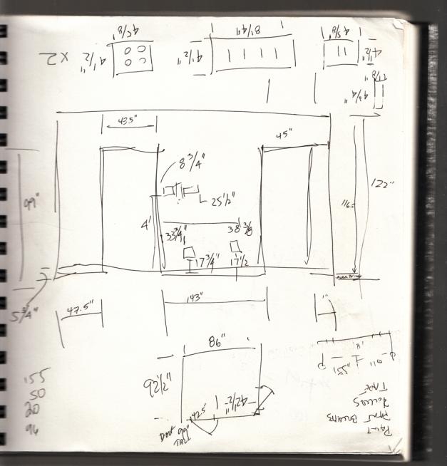 Dimension notes for Studio 1469, Outside/In premier venue.